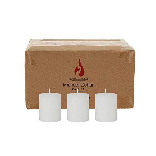 Michael Zohar Candles Votive Candle, Unscented, 100 Percent Paraffin Wax Votive Candle for Glass Refill, Candles be Used for Food Warming, Emergency Light, Dinners, Restaurants, Weddings - 36 Pieces