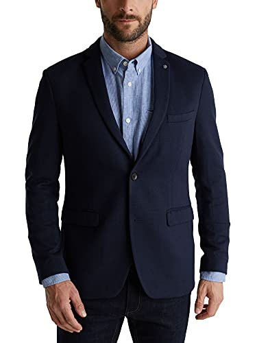 ESPRIT Herren 990EE2G301 Blazer, 405/DARK Blue, 50