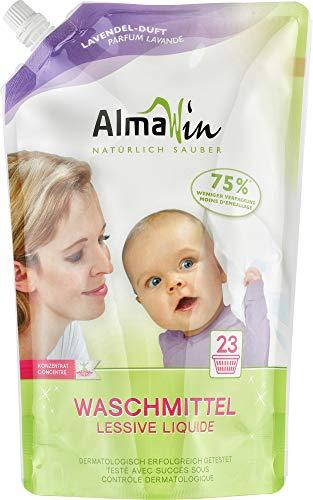 AlmaWin Waschmittel flüssig im Beutel 23 Waschgänge 1500 ml vegan, Eco Garantie (1 x 1.5 kg)