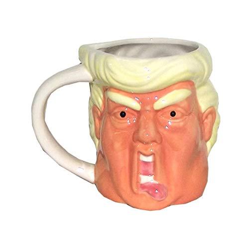Simple & Co Funny Face Donald Trump Coffee Mug, 18 ounces