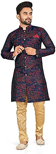 Brand Boy Mens Ethnic Wear Kurta Pajama Sherwani Set