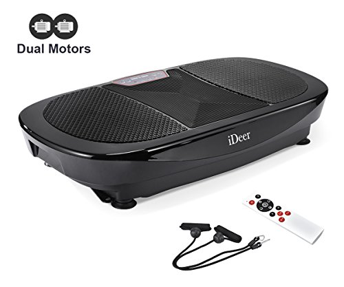 IDEER 3D Vibration Platform Exercise Machine,Dual Motors Oscillation 3D Motion Vibration Plates Exercise Machine,Whole Full Body Fit Massage Vibration Plate for Home Fitness& Weight Loss. (Black09008)