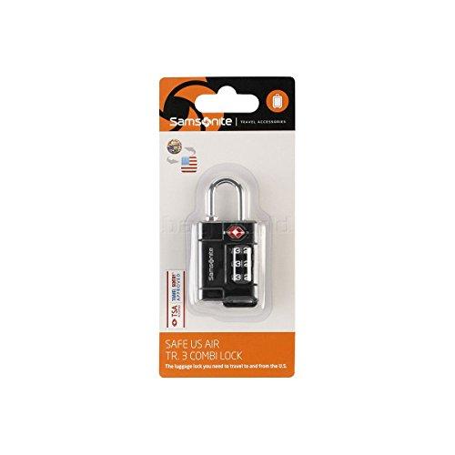 Samsonite Travel Accessories Safe Us 3 Combi Lock Lucchetto per Valigie, Nero, 7 cm