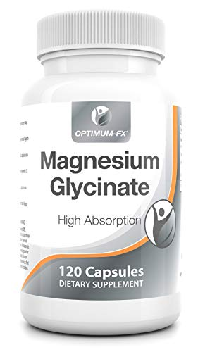 Magnesium Glycine Capsules Geen Tabletten Biologisch Beschikbaar Mineraal Supplement Makkelijk in te Nemen Magnesium Heeft 10 Tien EU Goedgekeurde Gezondheidsclaims 280 mg x 120 Veganistische Capsules