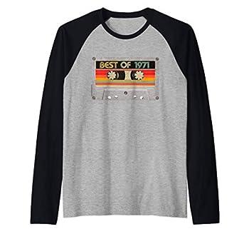 Best Of 1971 50th Birthday Gifts Cassette Tape Vintage Raglan Baseball Tee