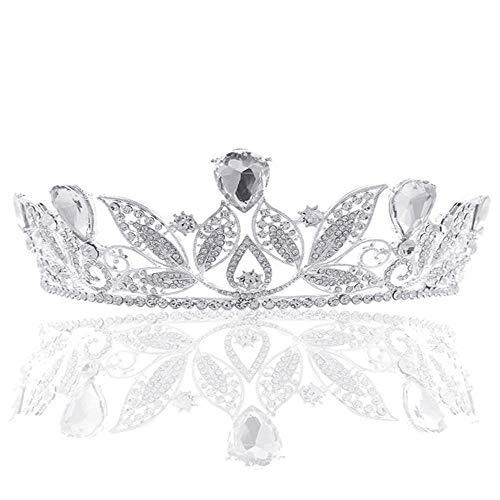 YNYA Diademe Brautkrone Königin Prinzessin Hochzeitskleid Strass Hochzeitskleid Haarschmuck Hochzeitsbankett Party Geschenk