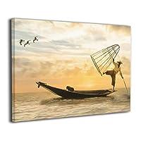 Skydoor J パネル ポスターフレーム 漁船 釣り 海 インテリア アートフレーム 額 モダン 壁掛けポスタ アート 壁アート 壁掛け絵画 装飾画 かべ飾り 30×20