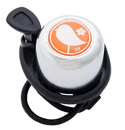 Liix Scooter Bell Birdy - Timbre de bicicleta para niños y adultos, con goma elástica para montaje flexible