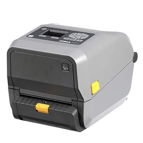 Zebra ZD620t Thermal Transfer Desktop Printer with LCD Screen 300 dpi Print Width 4 in WiFi Bluetooth Ethernet Serial USB with Peeler ZD62143-T11L01EZ