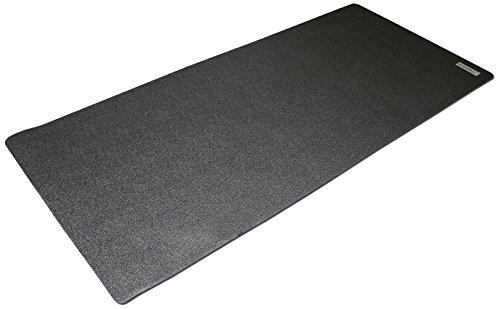 skandika Bodenschutzmatte für Fitnessgeräte (2 Größen), Made in Germay, 7 mm stark, für Heimtrainer oder auch große Maschinen, Sport Multifunktionsmatte, Fitnessmatte, für mehr Stabilität, schützt den Boden, Übungsmatte für Yoga, Pilates (90 x 200 cm)