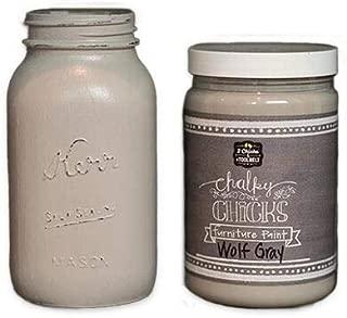 Chalk Finish Paint - Furniture & Cabinet Paint (32 oz, Wolf Gray)
