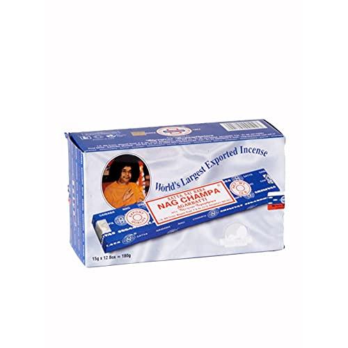 Satya nagchAMPA - Bâtonnets d'encens - 12 boites de 15mg