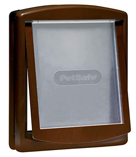PetSafe Staywell Original Katzenklappe, Hundeklappe, 2-Wege-System, Innentür & Außenmontage, Robuste Plastikklappe, Einfache Montage, braun, L