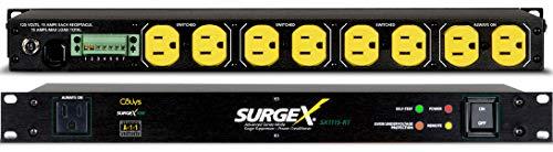 SurgeX SX-1115-RT Rack Mount Surge Eliminator & Power Conditioner w Remote, 1RU
