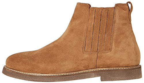 Marca Amazon - find. Flynn Botas Chelsea, Marrón Tan, 45 EU
