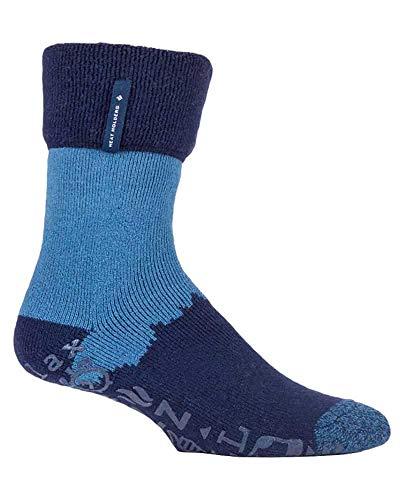 HEAT HOLDERS - Hombre Invierno Calientes Calcetines Estar por Casa (Azul marino (Robin), 39-45 EU)