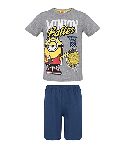 MINIONS Despicable Me Jungen Shorty-Pyjama - weiß - 128