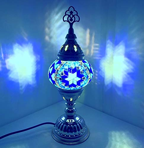 Handcrafted Turkish/Moroccan Tiffany Style Mosaic Desk Lamps