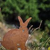 Chirpy Project Gartendekoration Verwitterungsstahl Kaninchen Silhouette