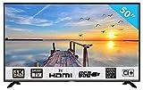 HKC 50F1 127 cm (50 Pouces) LED Smart TV téléviseur (Ultra Haute Définition 4K, Triple Tuner avec TNT, CI+, Lecteur multimédia Via Port USB [Classe énergétique A]