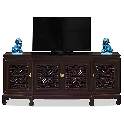 China Furniture Online Rosewood Chinese Sideboard, Longevity Design in Dark Cherry Finish