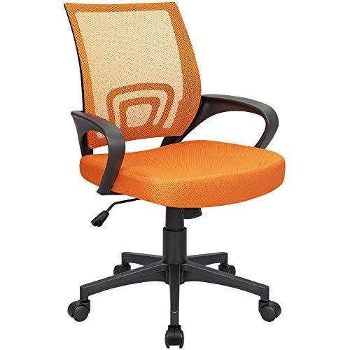 Homall Office Mid Back Computer Ergonomic Desk Chair (Orange)