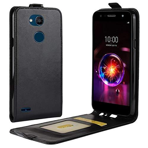 HualuBro LG X Power 3 Hülle, Premium PU Leder Brieftasche Schutzhülle HandyHülle [Magnetic Closure] Handytasche Flip Hülle Cover für LG X Power 3 Tasche (Schwarz)