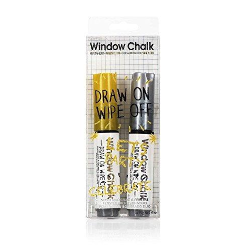 NPW Window Marker Marqueur craie – Argenté et Doré Window Marker Duo