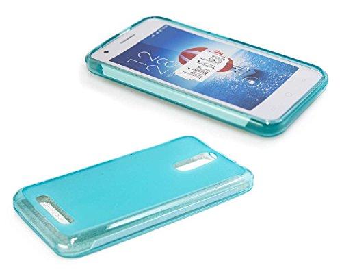 caseroxx TPU-Hülle & Bildschirmschutzfolie für Archos 45 Neon, Set (TPU-Hülle in hellblau)