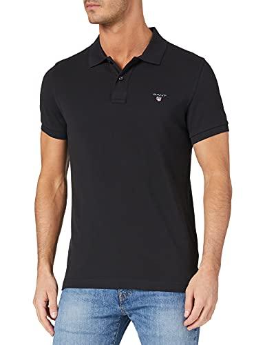 GANT Original Slim Pique SS Rugger Camisa de Polo, Negro, L para...