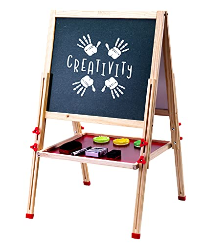 Jaques of London Kids Easel | Best Easel Kids | Genuine Art Supplies | Excellent Arts And Crafts For Kids | Exclusive Easel For Toddlers | Luxurious Wooden Toys for 2 3 4 Year Olds | Since 1795