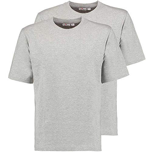 Tony Brown Herren T-Shirt Rundhals grau M 2er