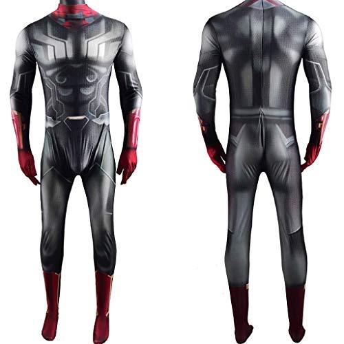 NVHAIM Muchachos Trajes de superhéroes Estirar Body, Avengers 3 Stealth Traje de la Guerra Infinito, Traje de Cosplay de Lycra Elástico Alto Elástico Traje de Halloween Traje,Adult XXL