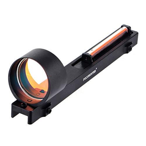 FOCUHUNTER Mirino in Fibra Rossa 1x25mm Ottica Tattica per tiro all aperto Caccia Riflessione olografica Vista