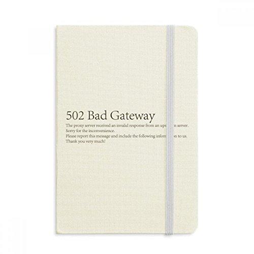 DIYthinker Programmer 502 Bad Gateway Notebook Stoff Hard Cover Klassisches Journal Tagebuch A5 A5 (144 X 210mm) Mehrfarbig