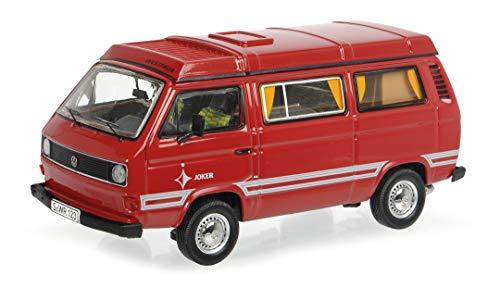 Schuco 450363100 VW T3b Westfalia Joker mit Faltdach, Modellauto, Maßstab 1:43, Limitierte Auflage, rot