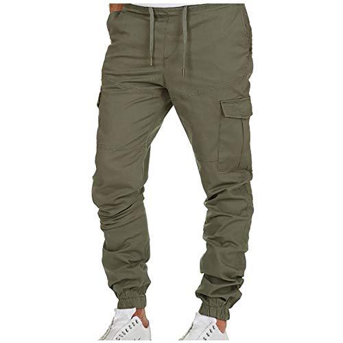 2021 Nuevo Pantalones para Hombre Casuales Moda trabajo pantalones Pants Jogging Pantalon Fitness Pantalones Chandal Hombre Largos Pantalones Ropa de hombre Multibolsillos Pantalones de Trekking