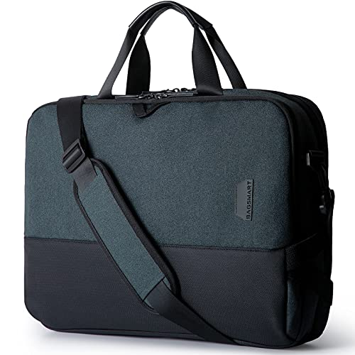 BAGSMART Laptop Messenger Shoulder Bag, Business Briefcase for Men Women, Water Resistant Durable Office Bag Fits 15.6 Inch Laptop, Travel Laptop Bag for Computer Notebook MacBook, Black