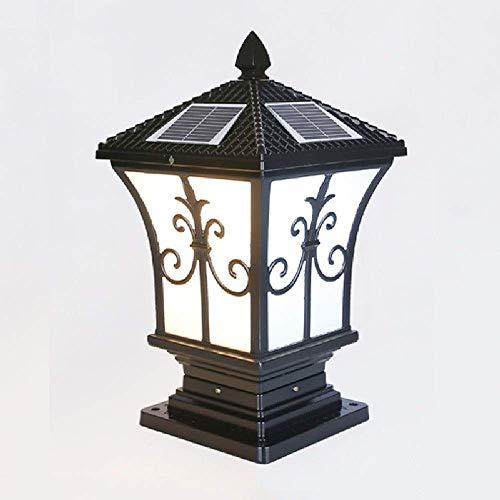 European Palace Linterna de poste LED Jardín al aire libre Patio Cubierta de la calle Valla de pared superior Lámpara de pilar de aluminio fundido a presión Exterior Luces de columna con clasificación