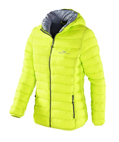 Black Crevice Damen Isolationsjacke in Daunenoptik, Gelb (Yellow), 44