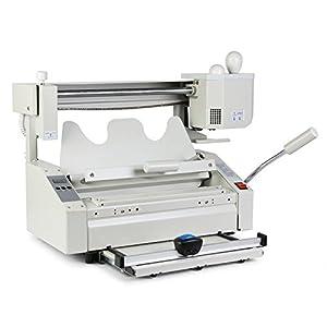 Guellin 4 en 1 Máquina de Encuadernación de Libros con Pegamento Encuadernadora Manual 160 Libros/Hora para Bibliotecas de Impresión y Empresas Editoriales (4 en 1)