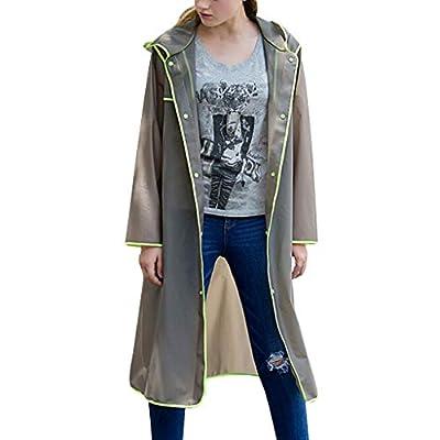 JustWin Edging Hiking Travel Raincoat Unisex Fashionable Plain Environmentally Backpack Edge-Wrapped Raincoat