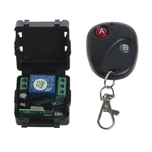 Baodanjiayou Relais DC 12 V 1 CH 433 MHz sans Fil RF Remote Control commutateur émetteur + récepteur
