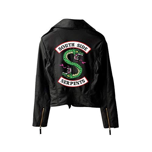 Yuanou Riverdale Chaquetas de Serpientes Riverdale con Estampado de PU Chaquetas de Mujer Streetwear de Riverdale Serpents