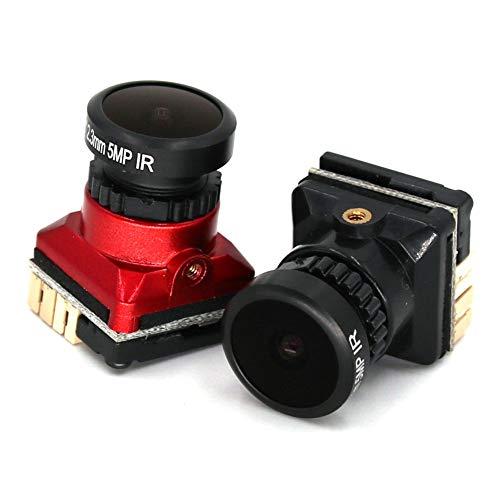 Amyove FPV Kamera 1/1.8 800TVL HD CCD 2.3mm 5MP OSD Taste DC 5-.30V NTSC PAL Einstellbarer Winkel Umschaltbare Kamera Für RC Quadcopter Drone rot