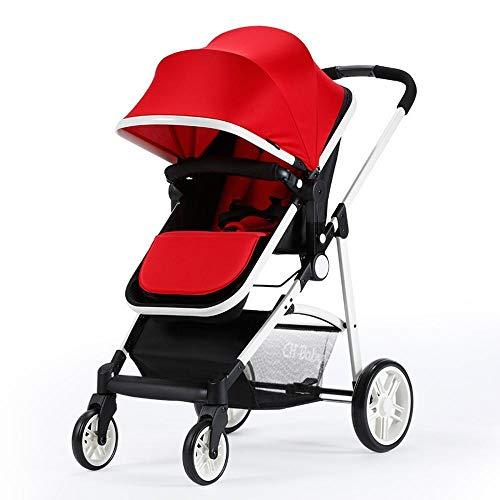 ZhiGe Kinderwagen Sport Hoch-Sicht Baby Kinderwagen Ultra-Lightweight, liegender Reversible Kinderwagen