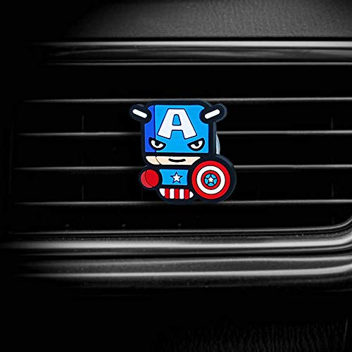 TED A CAR Dora-Stars Air Vent Decoration - Cute Super Hero Decorative Vent Clip for Cars, Bedroom or Office [Captain America]