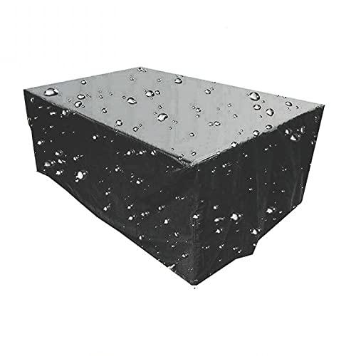 Funda para Muebles de jardín Impermeables Funda Mesa Exterior Varios Tamaños para Muebles Funda para Muebles de jardín Anti-UV Rectangular para Mesa de jardín 420D Oxford 200x80x80cm