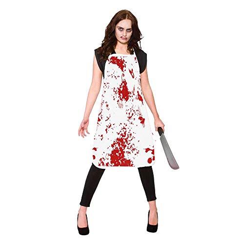 yooohoh Delantal de Terror Sangriento de 2 Piezas para Decoraciones de Terror de Halloween Fiestas temáticas de la casa encantada Ciudad de Miedo