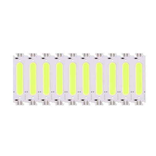 EVTSCAN LED Chip Bulb, 10st 12V 2W COB Chip Ljuskälla Passar för DIY LED Lampa Belysning Armaturer(Green)